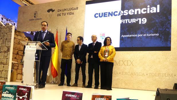 Benjamín Prieto, presidente de la Diputación, este domingo en Fitur