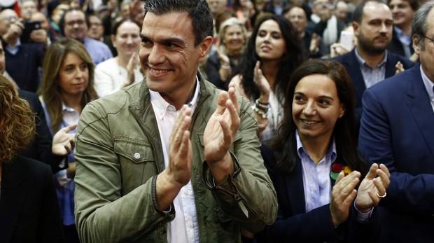 Pedro Sánchez y Sara Hernández, en una imagen de archivo