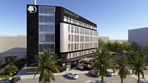Recreación de los exteriores del nuevo hotel