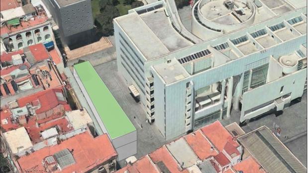 Una de las propuestas de ampliación del Macba planteada por el Ayuntamiento