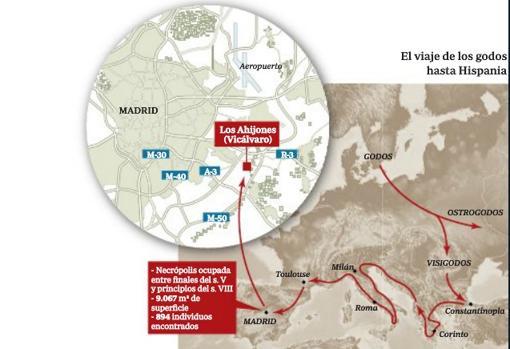 El viaje de los Godos hasta Hispania