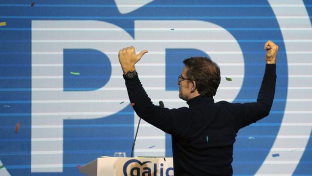El presidente de la Xunta y líder del PPdeG, Alberto Núñez Feijóo, este sábado en Santiago