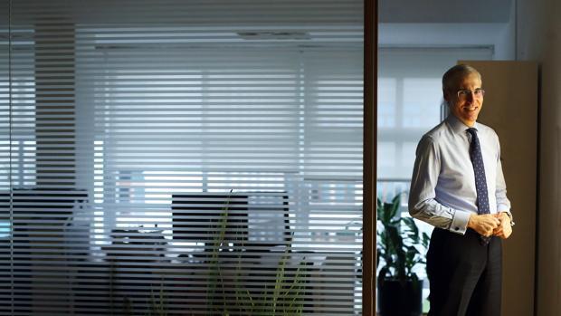 Francisco Conde, durante la charla con ABC