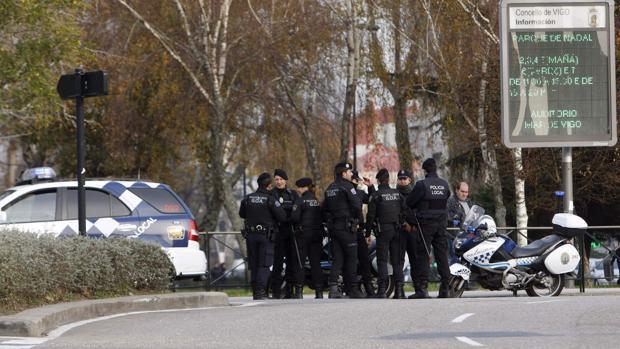 Imagen de un grupo de agentes de la Policía Local de Vigo
