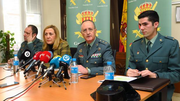 La Guardia Civil, en la rueda de prensa sobre el caso del homicidio del irlandés en Torrevieja
