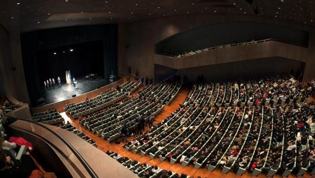 Interior del Auditorio Mar de Vigo el día de su inauguración en 2011