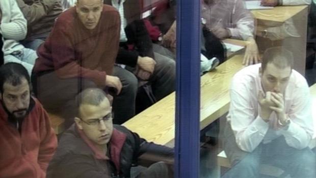 Algunos de los imputados del 11-M, durante el juicio en febrero de 2007