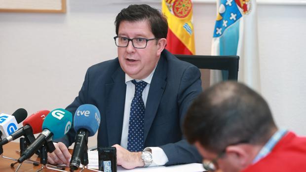 El director xeral de Función Pública, José María Barreiro, en rueda de prensa