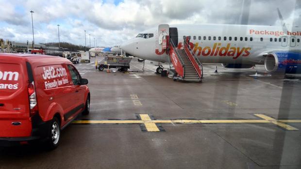 Avión en Manchester que iba a Canarias desde Glasgow
