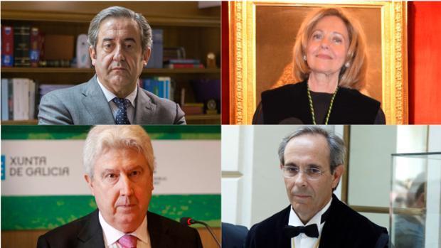 Los fiscales del «procés»: Javier Zaragoza, Consuelo Madrigal, Fidel Cadena y Jaime Moreno