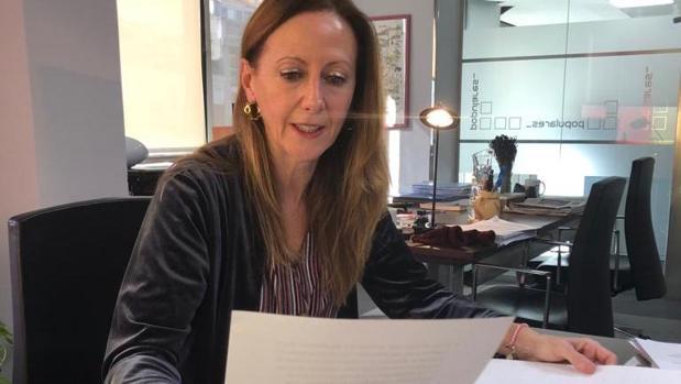 La vicesecretaria de Comunicación del PP, Marta González, en una imagen que publicó en su cuenta de Twitter iu
