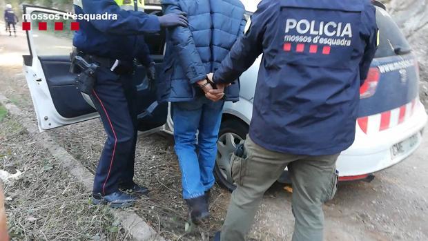Detención de uno de los ladrones
