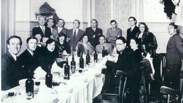La cena de poetas del 27, el 29 de abril de 1936, en Casa Rojo