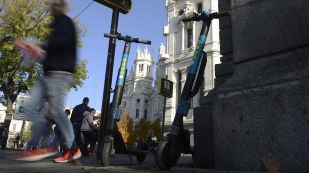 Uno de los patinetes que no ha sido autorizado por el Ayuntamiento