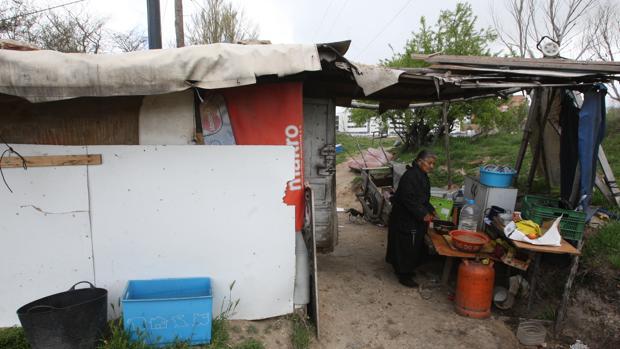 Chabolas en el barrio de las Delicias de Valladolid