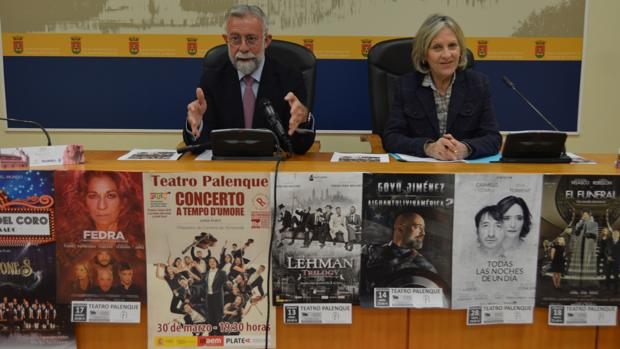 Jaime Ramos y María Ángeles Núñez, durante la presentación del programa