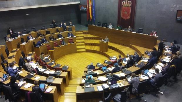 El Parlamento de Navarra durante el debate de hoy