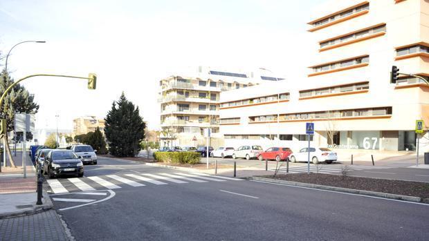 Paso de peatones, en la calle Río Guadarrama, donde se produjo el atropello