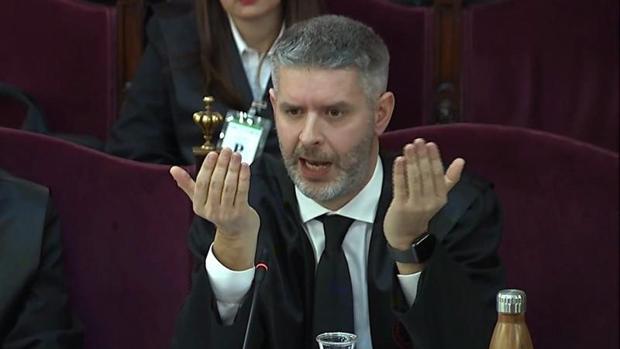 El letrado de Oriol Junqueras, Andreu Van den Eynde, en el juicio al «procés»