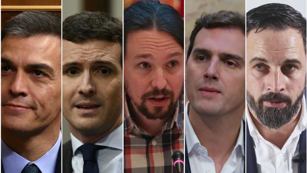 Los líderes de los principales partidos que se presentan a las elecciones