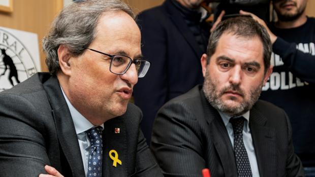 Torra afirma en Palma que Cataluña y Baleares son «pueblos hermanos» que luchan «por lo mismo»
