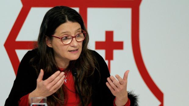 Imagen de la vicepresidenta de la Generalitat, Mónica Oltra, tomada este viernes