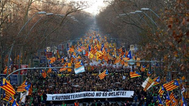 Una imagen de la cabecera de la manifestación