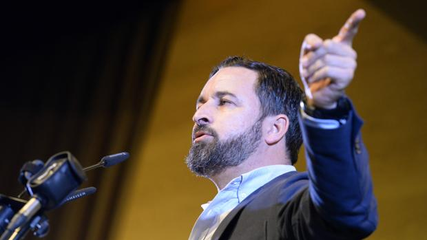 Acto público de Vox en Toledo el que participaró el presidente del partido, Santiago Abascal