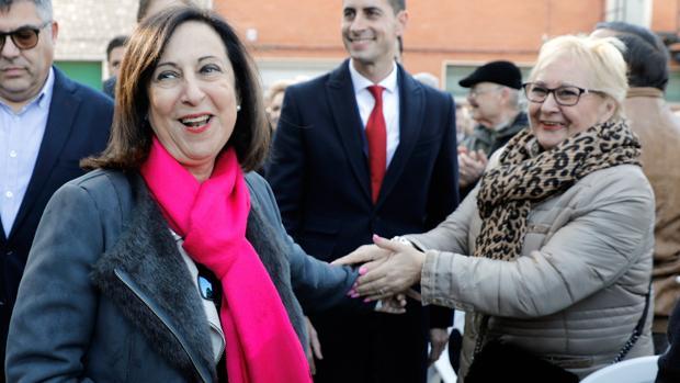 La ministra Robles este sábado en la presentación de una residencia de mayores en Mislata (Valencia)