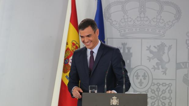 Pedro Sánchez durante su declaración de ayer