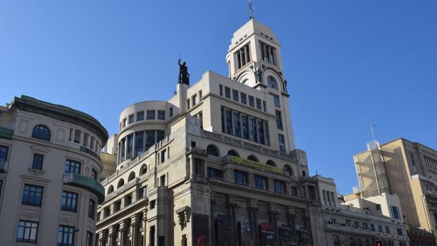 Fachada del Círculo de Bellas Artes en la Calle Alcalá