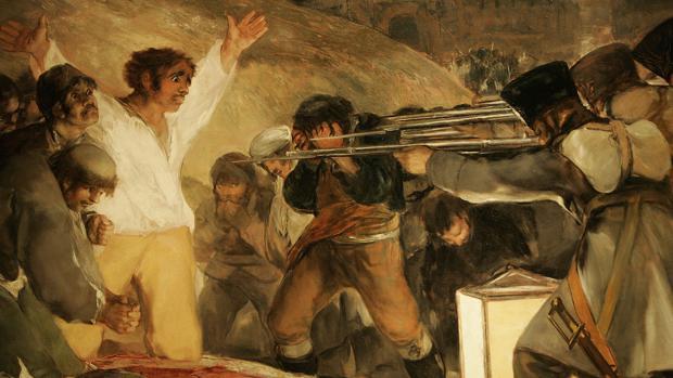 Cuadro de Goya sobre los fusilamientos del 2 de Mayo de 1808 en Madrid