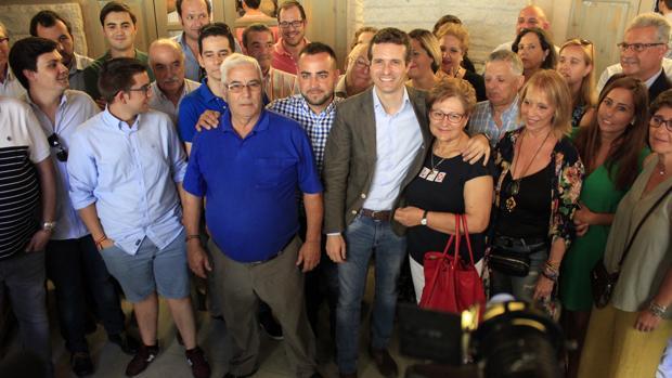 Casado, el pasado mes de julio, visitó Toledo en su campaña de primarias