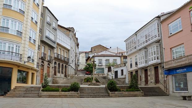 Plaza de España en Monforte de Lemos