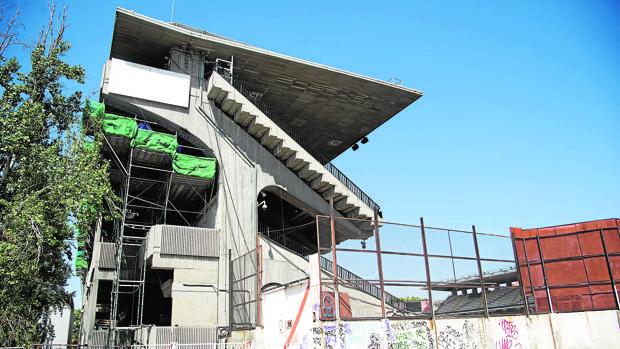 El estadio, durante las obras que se han llevado a cabo