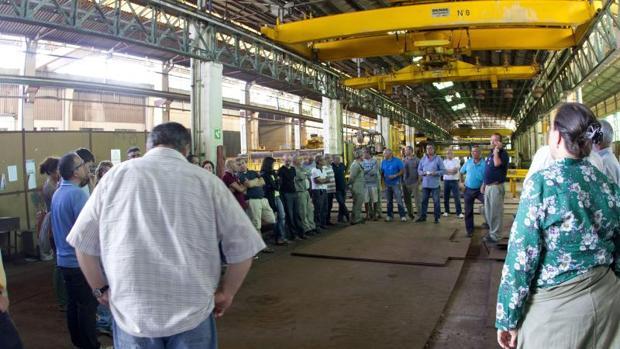 Trabajadores en el interior de la factoría de Vulcano