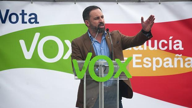 El líder de Vox, Santiago Abascal, en la campaña andaluza