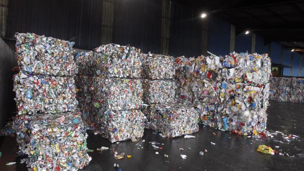 Residuos en la planta de Sogama (Cerceda, La Coruña)