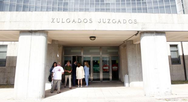Entrada de los juzgados de Santiago