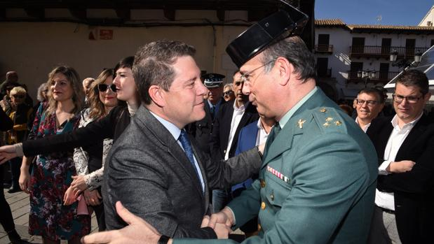 Page, durante su visita institucional a Tarazona de la Mancha