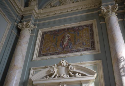Detalle de la decoración dl edificio