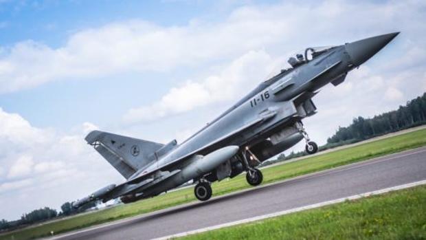 Caza Eurofighter del Ejército del Aire
