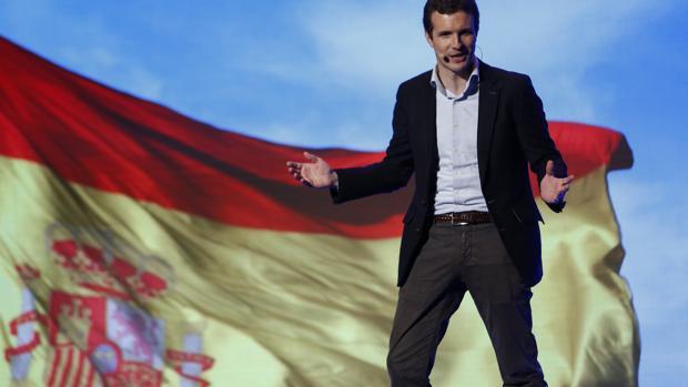 Pablo Casado, en un acto del PP en Granada