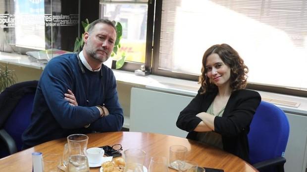 Pedro García Aguado e Isabel Díaz Ayuso durante una de sus reuniones