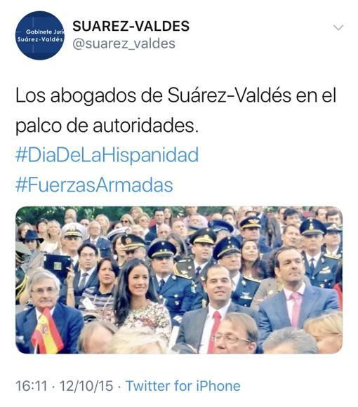 El tuit fue publicado el 12 de octubre de 2015