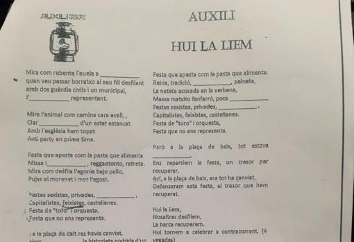 ' FIESTAS FASCISTAS Y CASTELLANAS ' , ASI SE ADOCTRINA CONTRA ESPAÑA EN UN COLEGIO DE ALICANTE