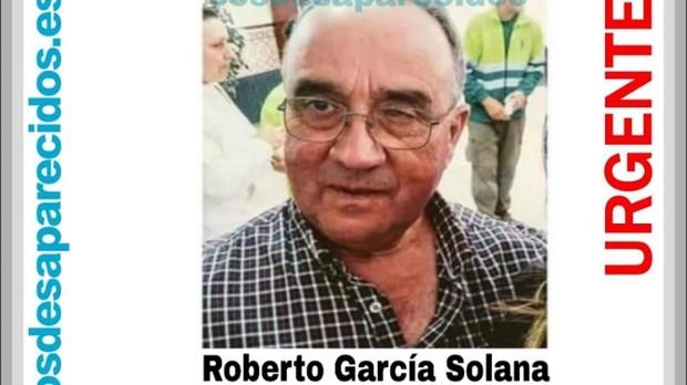 Cartel con la foto de Roberto García, desaparecido el 18 de febrero