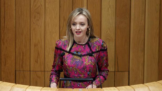 La conselleira de Política Social, Fabiola García, en el Parlamento