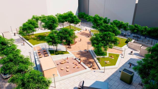 Proyecto de reforma de la plaza de Pedro Zerolo