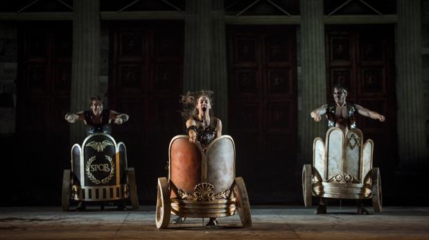 Una escena del «Ben-Hur» de la compañía madrileña Yllana